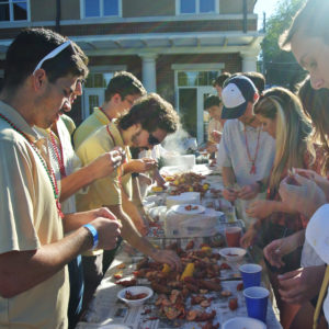 Crawfish boil event at Phi Gamma Delta Georgia Tech